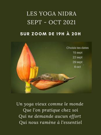 Série Yoga Nidra Sept-Oct 2021